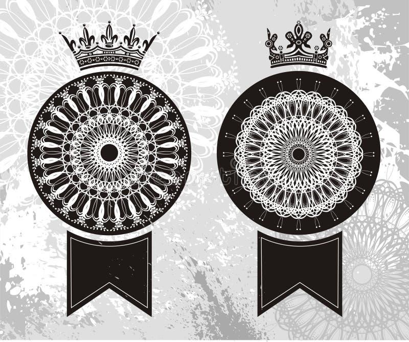 Buitensporige decoratieve linten vector illustratie
