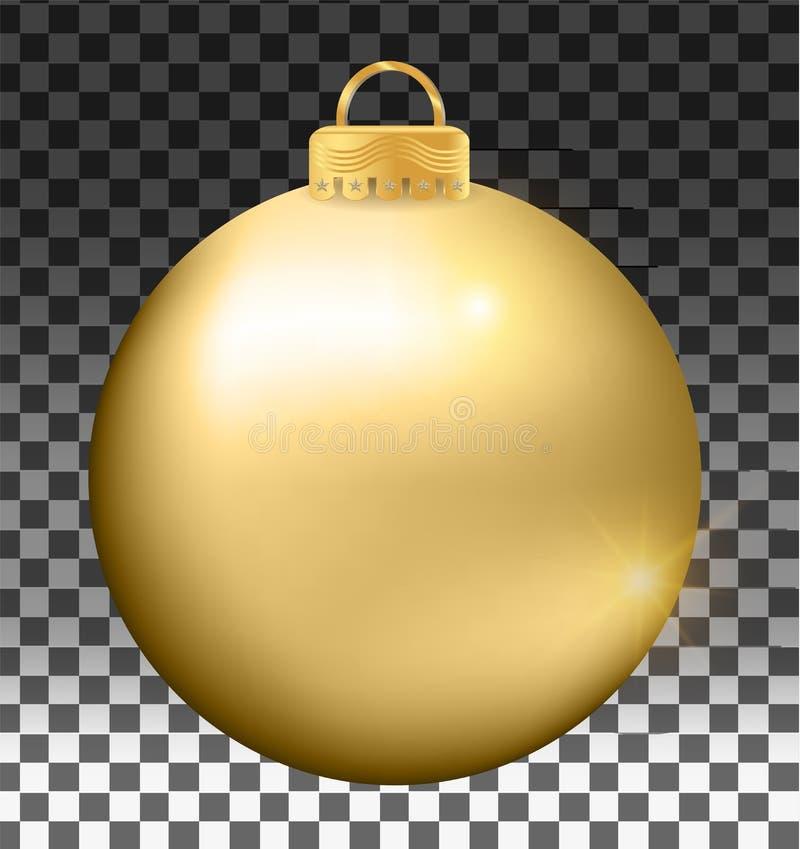 Buitensporige die Kerstmisbal op witte achtergrond wordt geïsoleerd stock illustratie