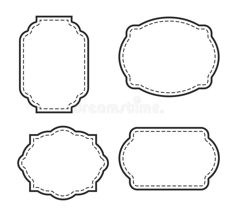 Buitensporige die Paginagrens in wit wordt geplaatst stock afbeeldingen