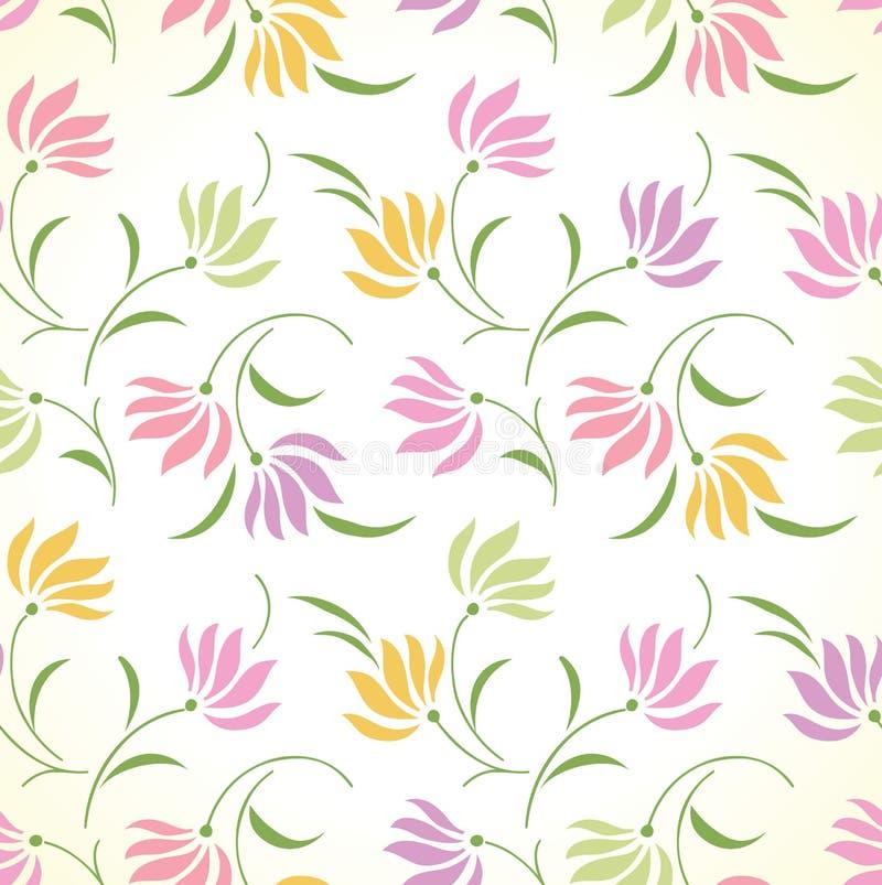Buitensporige naadloze bloemenachtergrond stock illustratie