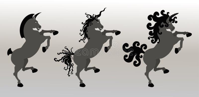 Buitensporige Ongebreidelde Eenhoorns vector illustratie