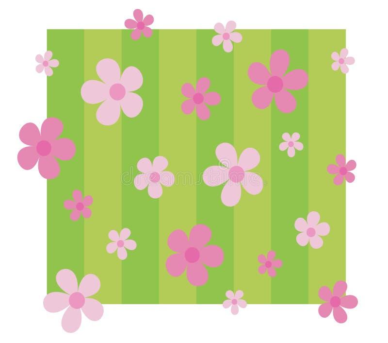 Buitensporige roze bloemenachtergrond stock illustratie