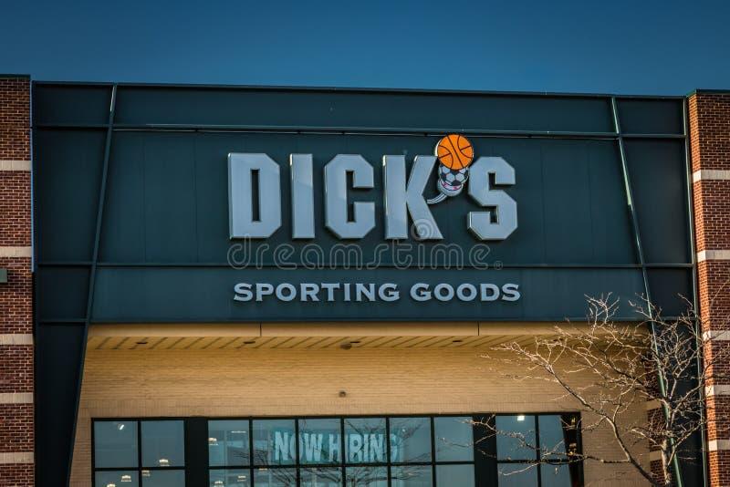 Buitenteken van de Sportieve Goederen van Dicks stock afbeeldingen