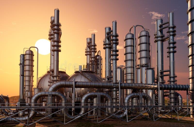 Buizen van fabriek stock illustratie