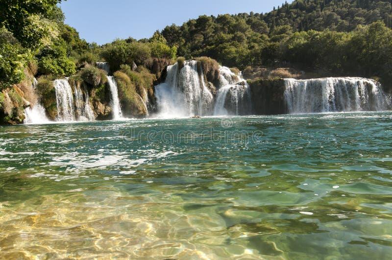 buk克罗地亚krka国家公园skradinski瀑布 免版税库存照片