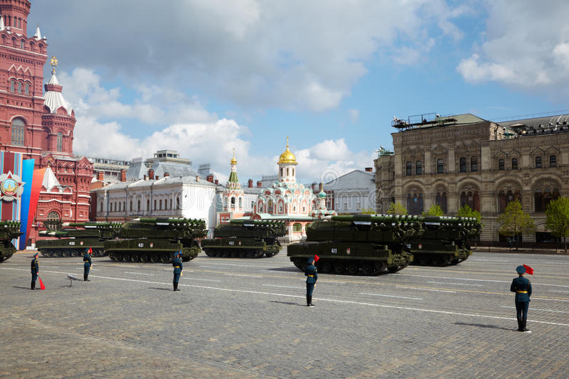 Buk Missile Systems Ride On Red Square Editorial Photo