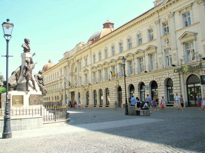 Bukarest bis zum Tag lizenzfreies stockbild