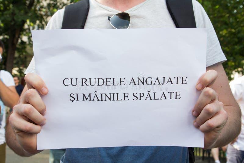 Bukarest-Protest lizenzfreie stockbilder