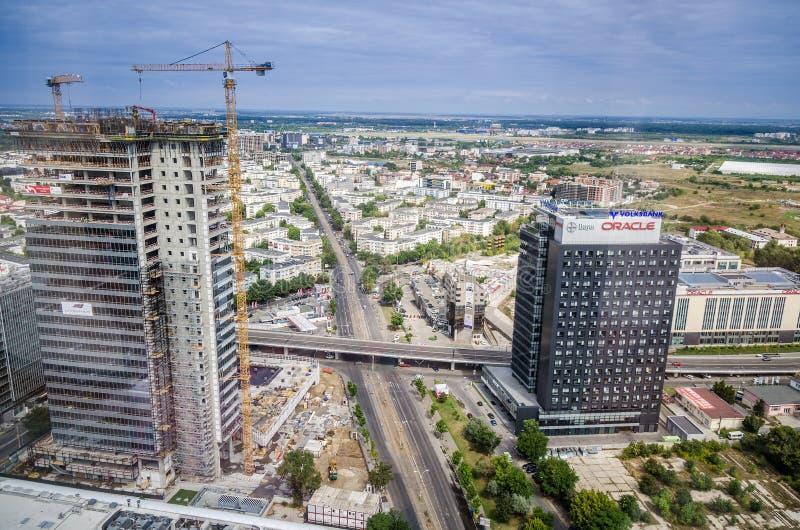 Bukarest- - Rumänien-Ansicht vom Himmelturm stockfotografie