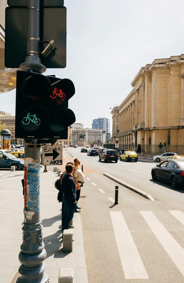 Bukarest Rumänien Calea Victoriei stockbild