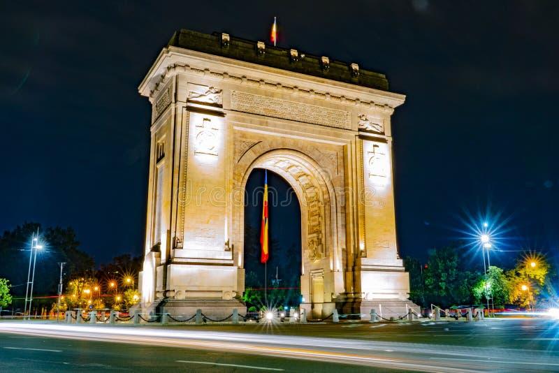 Bukarest, Rumänien, am 9. Juni 2019 Triumphbogen in Bukarest stockbild