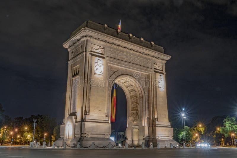 Bukarest, Rumänien, am 9. Juni 2019 Triumphbogen in Bukarest lizenzfreies stockfoto
