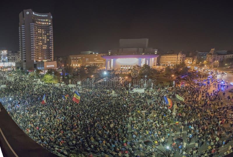 Bukarest, Rumänien - 5. November 2015 - Bukarest sieht dritten Tag lizenzfreie stockbilder