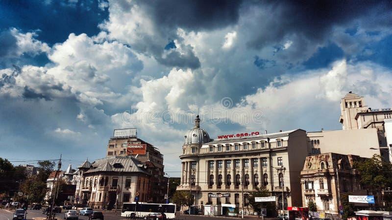 Bukarest-Stadtzentrum am Tag lizenzfreies stockfoto