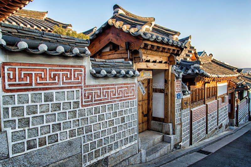 Bukchon Hanok Village. In Seoul, South Korea royalty free stock photos