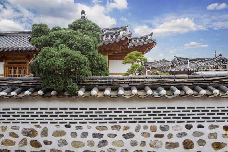 Bukchon Hanok Village. In Seoul, South Korea royalty free stock photography