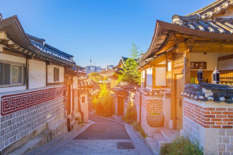 Bukchon Hanok Village in Seoul, South Korea.  royalty free stock image