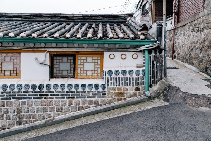 Bukchon Hanok Village, Traditional architecture in Seoul, Korea. Bukchon Hanok Village, Traditional architecture in Korea stock image