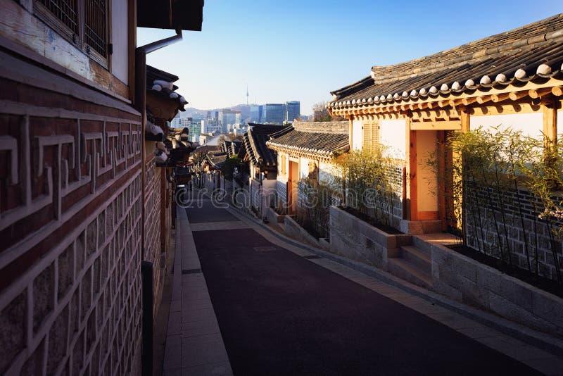 Bukchon Hanok Village. Traditional Korean style architecture. Bukchon Hanok Village, Seoul South Korea stock images