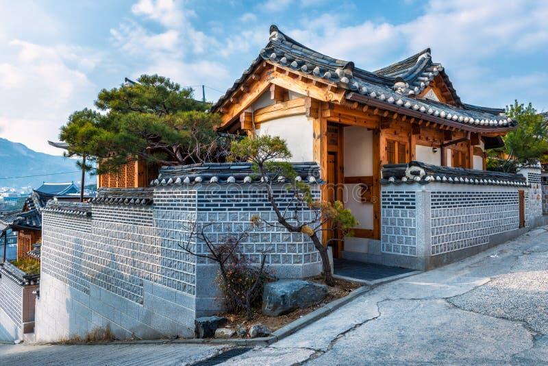 Bukchon Hanok Village. Traditional Korean style architecture at Bukchon Hanok Village in Seoul, South Korea stock images
