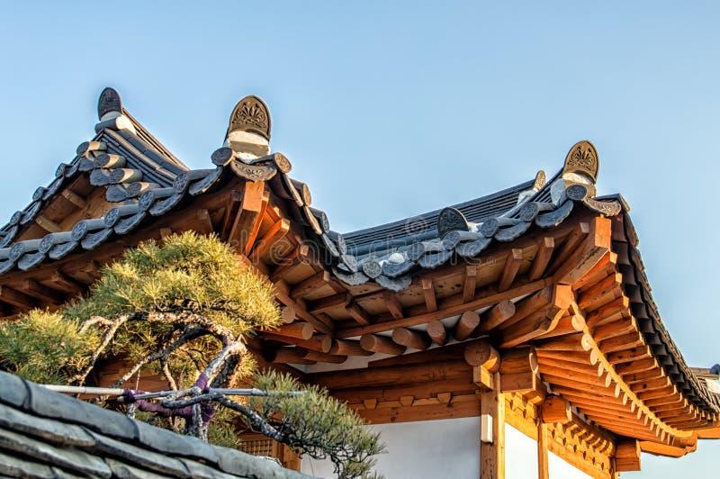 Bukchon Hanok Village. Traditional Korean style architecture at Hanok Village , South Korea stock photography