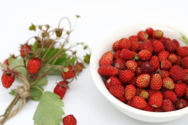 Bukett av bärnärbilden för lös jordgubbe arkivbilder