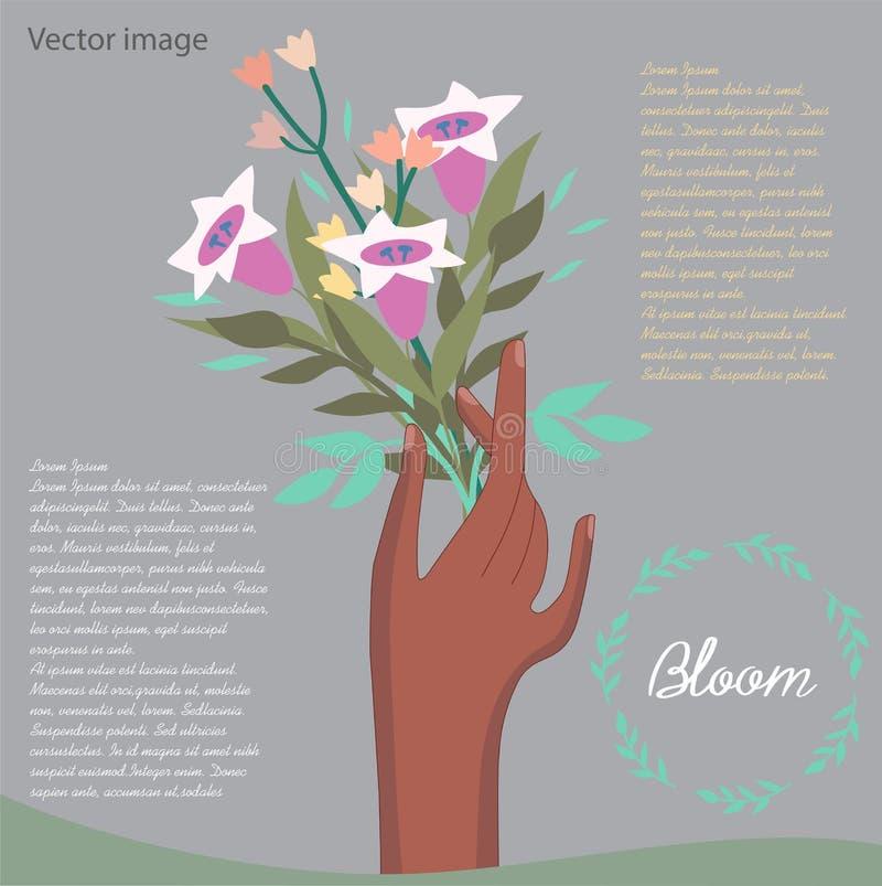 Bukett av blommabilden royaltyfri illustrationer