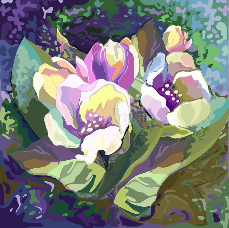 Bukett av blommor vektor illustrationer