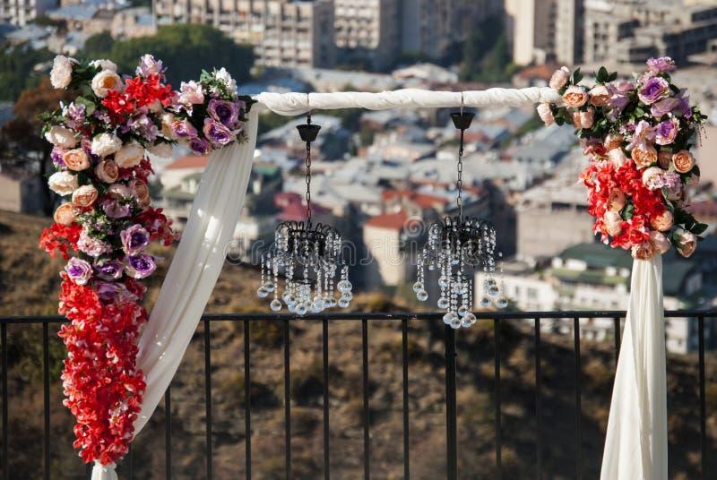 Bukett av blommor i Tbilisi Georgia arkivfoton