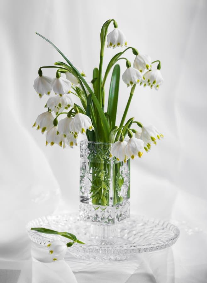Bukett av härliga för vår blommor först arkivfoto