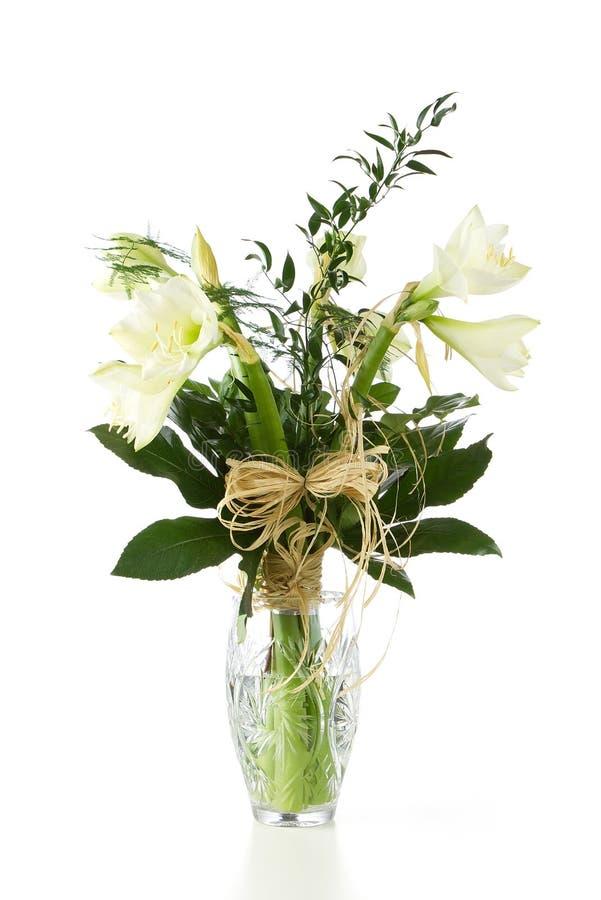 Bukett av vita blommor arkivfoto