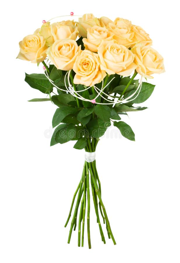 Bukett för gula rosor royaltyfri foto