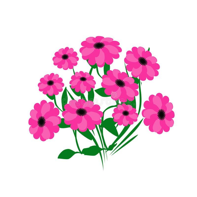 Bukett för varma rosa färger royaltyfri illustrationer