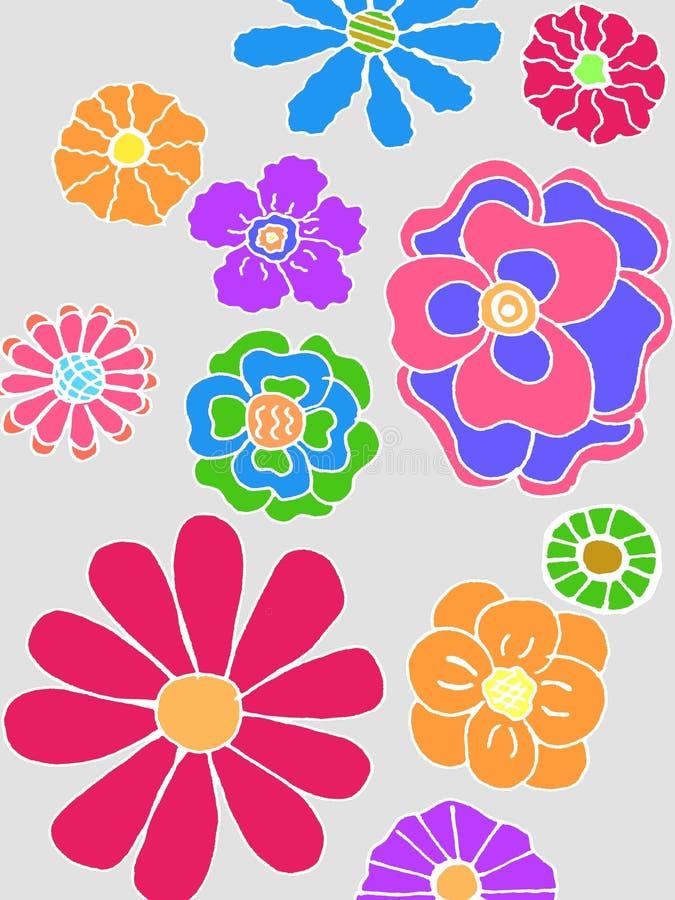 bukettbows figure seamless litet för blommamodell stock illustrationer
