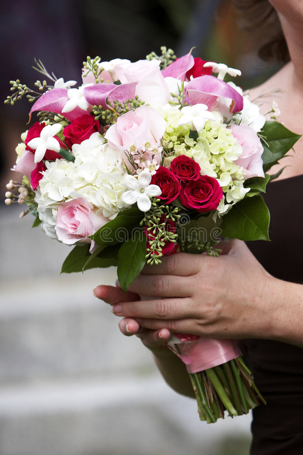 buketten blommar bröllop arkivbild