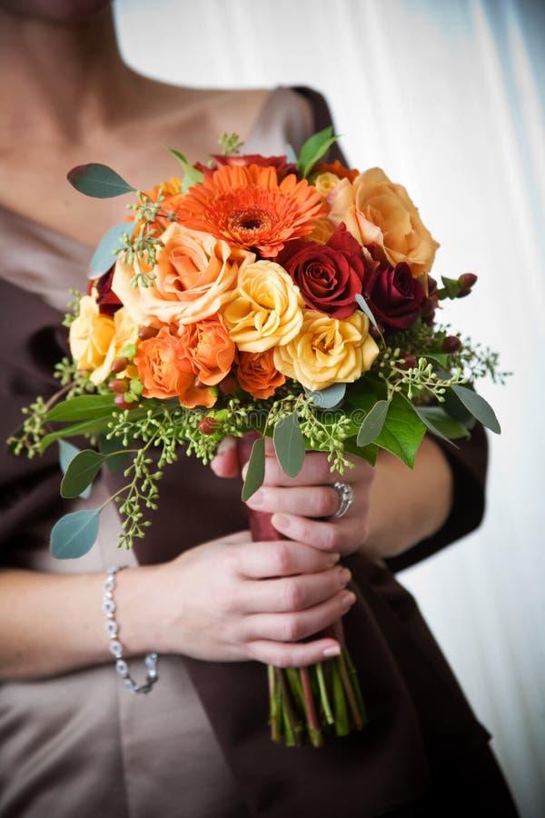 buketten blommar bröllop royaltyfri foto