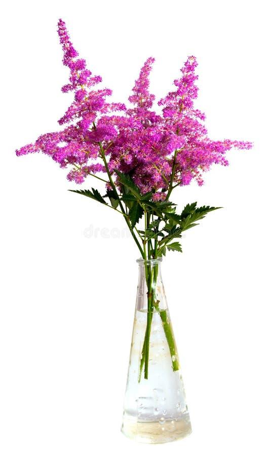 buketten blommar den rosa vasen arkivbild