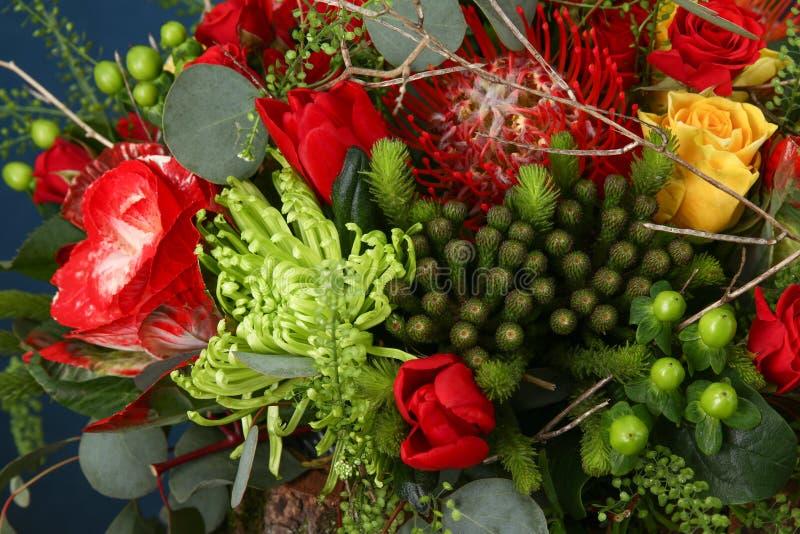buketten blommar enormt arkivbild