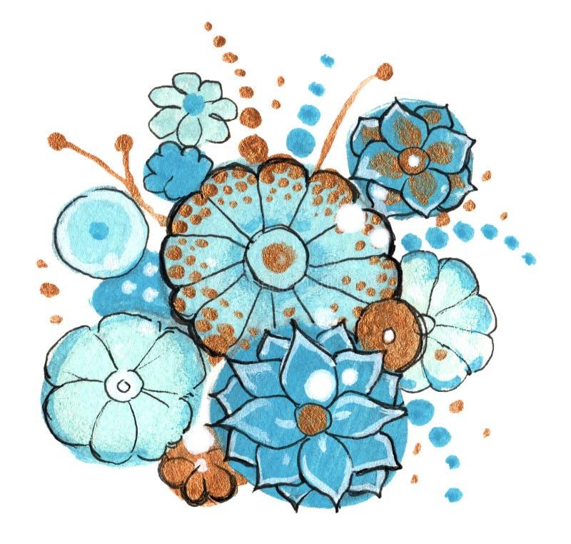 buketten blommar fjädern arkivfoton