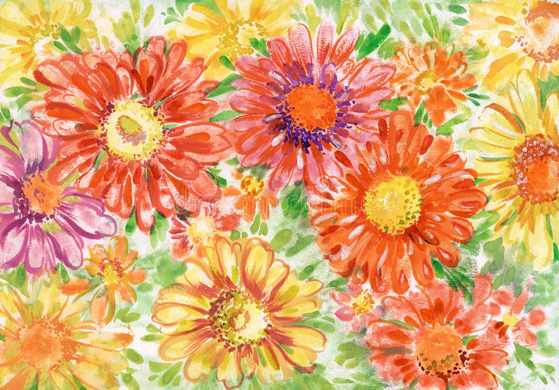 bukettgerberas vektor illustrationer