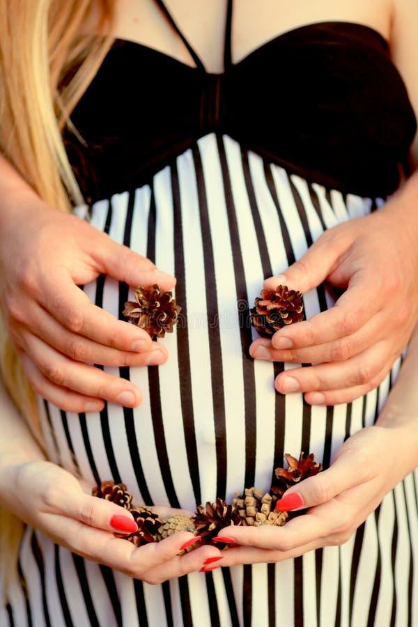 bukgravid kvinna fotografering för bildbyråer