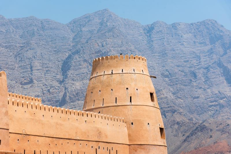 Bukha fort blisko Khasab w Musandam Oman fotografia stock