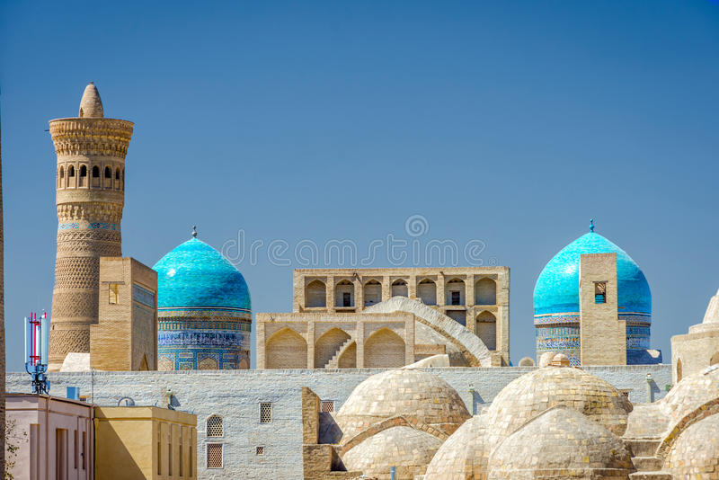 Bukhara śródmieście Uzbekistan fotografia royalty free