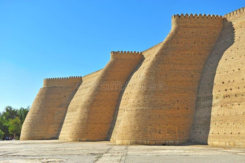 Bukhara: gammal befästning fotografering för bildbyråer