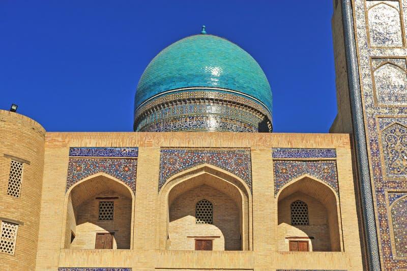 Bukhara: Miri araba Madrasah kopuła fotografia stock