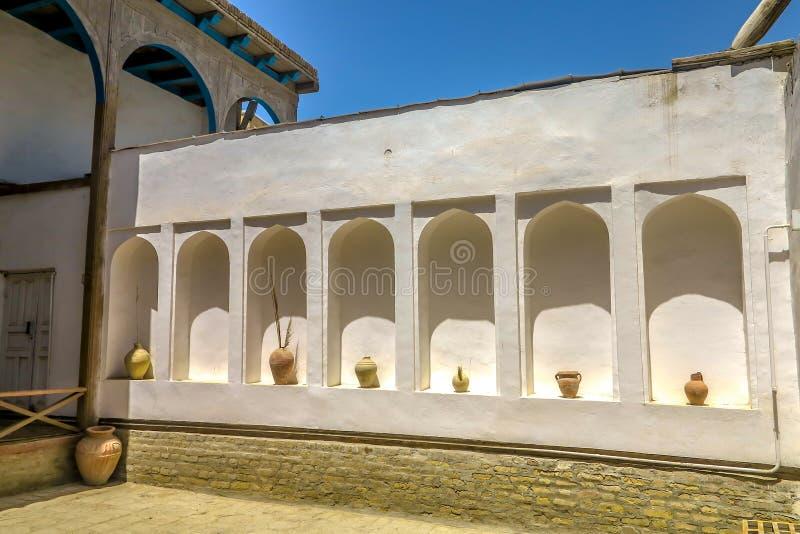 Bukhara Old City 12. Bukhara Old City Ark Citadel Arched Bows Wall with Jars royalty free stock photography