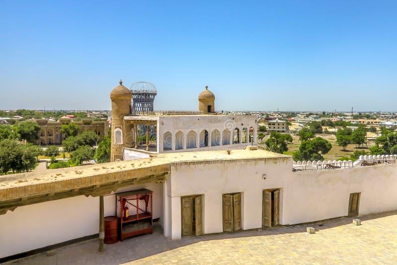 Bukhara Old City 22. Bukhara Old City Ark Citadel Back Viewpoint of the Main Entrance Gate stock images