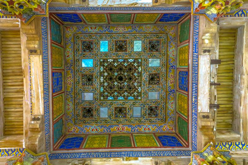 Bukhara Old City 07. Bukhara Old City Picturesque Breathtaking Ark Citadel Dzhuma Mosque Ceiling royalty free stock photo