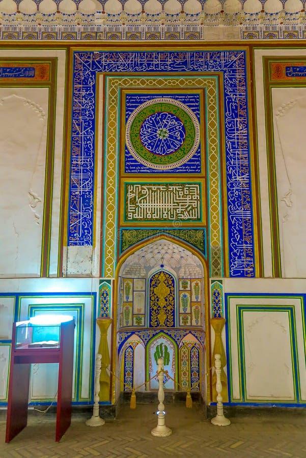 Bukhara Old City 06. Bukhara Old City Picturesque Breathtaking Ark Citadel Dzhuma Mosque Mihrab stock photo