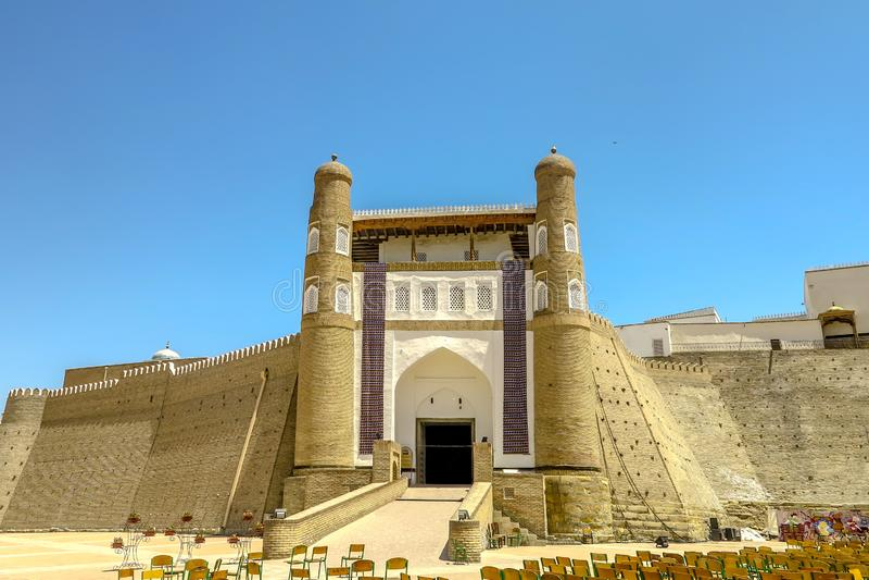 Bukhara Old City 05. Bukhara Old City Picturesque Breathtaking Ark Citadel Main Gate Entrance Viewpoint royalty free stock photo
